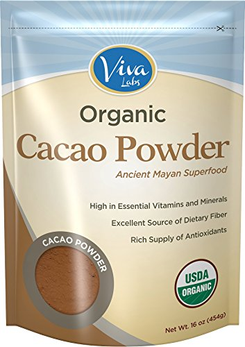 Viva Labs Organic Cacao Powder: Raw and Non-GMO 1 lb Bag