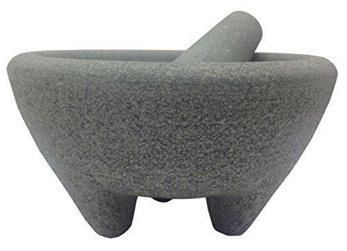 IMUSA AS31007 Aaron Sanchez Jumbo Granite Mortar and Pestle, 8-Inch, Red