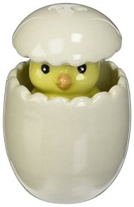 "Kate Aspen ""About To Hatch"" Ceramic Baby Chick Salt and Pepper Shakers"
