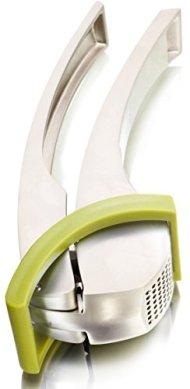Vacu Vin Heavy-Duty Aluminium Garlic Press with Scraper – Green