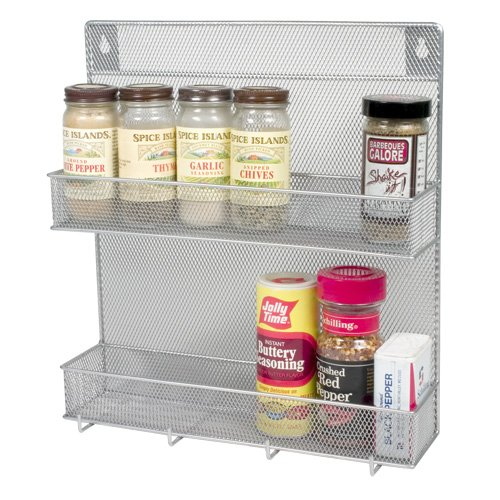 Spice Rack 2 Tier with Hooks(w'11.3/4 L'12.3/4 Depth'4 Inch with the Hooks)