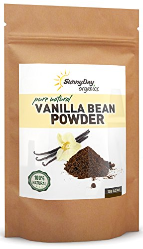 Organically Grown Vanilla Bean Powder, 4.23 Oz – Raw Ground Vanilla Bean – Unsweetened, Gluten-Free – EXTREMELY FRESH – Ground Moments Before Packaging!