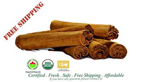 Certified Organic Pure Ceylon/True Cinnamon C4 Sticks(C.Zeylanicum)Sulfur Free-Bulk 160g