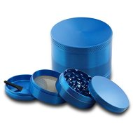 DCOU Alloy Pollen Tobacco Grinder / Spice Grinder / Herb Grinder / Weed Grinder, Grinder Sifter, with Magnetic Cover, 4 Pieces 2.42 Inches (Blue)