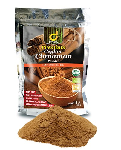 Organic Ceylon Cinnamon Powder – Family Owned Since 1935 – 1 Lb. in a Handy Re-sealable Pouch