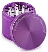 Chromium Crusher Purple 4 Piece Tobacco Spice Herb Grinder – Pick Your Size (2.2″)