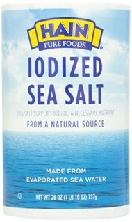 Hain, Sea Salt, Iodized, 26 oz