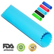 Chef Hessler Garlic Peeler Silicone Tube Roller ★ Bonus: 50 Garlic Based Recipes E-book ★ (Blue)