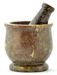 Stone Mortar and Pestle Natural