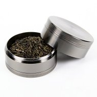 Tobacco Spice Grinder Chromium Metal Herb and Spice Grinder 4 Parts 2.5 Inches
