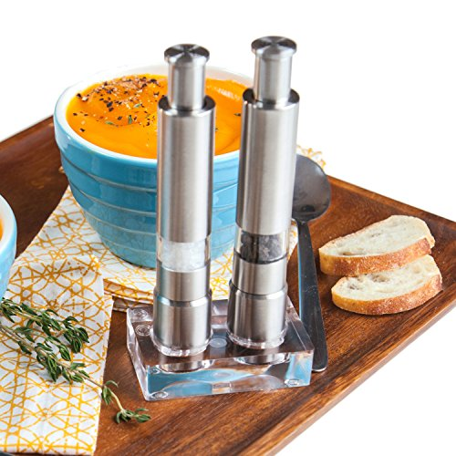 Eparé Stainless Steel Salt and Pepper Grinder Set