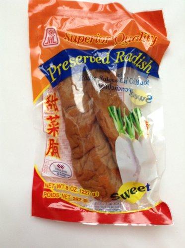 Superior Quality PRESERVED SWEET RADISH – 8 oz – Product of Thailand