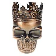 LIHAO Herb Spice Weed Tobacco Grinder Crown Skull – Red Bronze