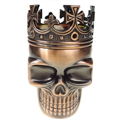 LIHAO Herb Spice Weed Tobacco Grinder Crown Skull – Red Bronze