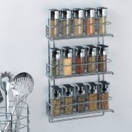 Organize It All 3-Tier Wall-Mounted Spice Rack – Chrome (1812)