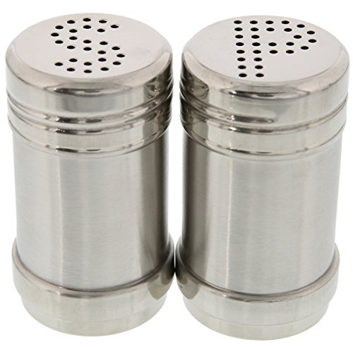 Salt and Pepper Shakers – Modern Stainless Steel Salt and Pepper Shakers – 3.5 Inch