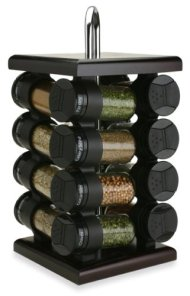 Olde Thompson 16-Jar Espresso Wood Spice Rack