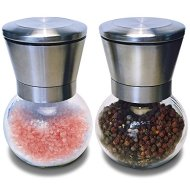 Mint Kitchen Premium & Stylish Stainless Steel Salt & Pepper Ceramic Grinder Mill Set