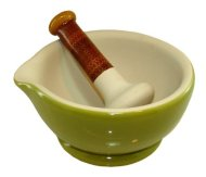 AMERICAN MASALA 2.5 Pint 8″ Mortar & Pestle – Cardamon Green