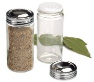 RSVP Clear Glass Spice Jar, Set of 6