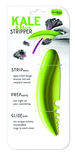 Talisman Designs Kale & Herb Stripper, for Leafy Greens and Woody Herbs, BPA-free Plastic