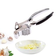 Garlic Press,COOKO Stainless Steel Garlic Press, Crusher, Mincer – with Built-in Self-Cleaning Silicone Pushes Cleaner and Non-Slip Silicone Handles