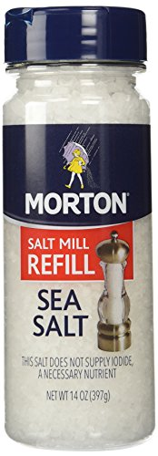 Morton Salt Sea Salt, Refill, 14 oz, 2 pk