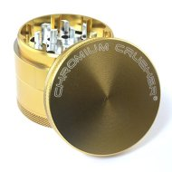 Chromium Crusher 2.5 Inch 4 Piece Tobacco Spice Herb Grinder – Gold