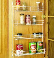 Rev-A-Shelf 565-14-52 Wall 14″ Door Mount Spice Rack – Wire-White