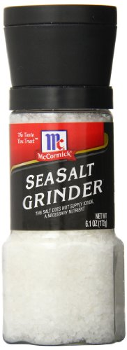 McCormick Sea Salt Grinder Value Size, 6.1 Ounce