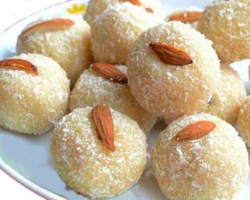 Almond Coconut Laddoo Recipe
