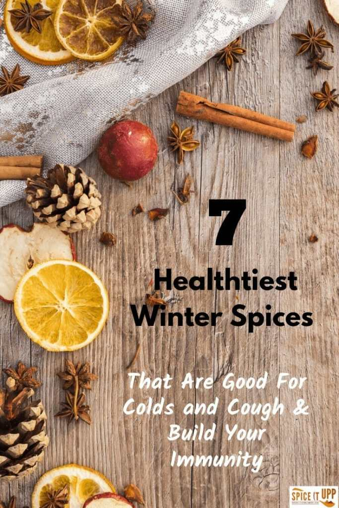 Winter spices good for cold