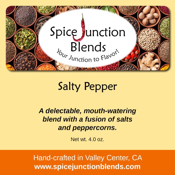 Salty Pepper Blend | Spice Junction Blends, Valley Center, California