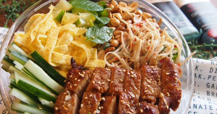 Collaboration: Jap-Viet Noodle Salad with Hakubaku Organic Soba