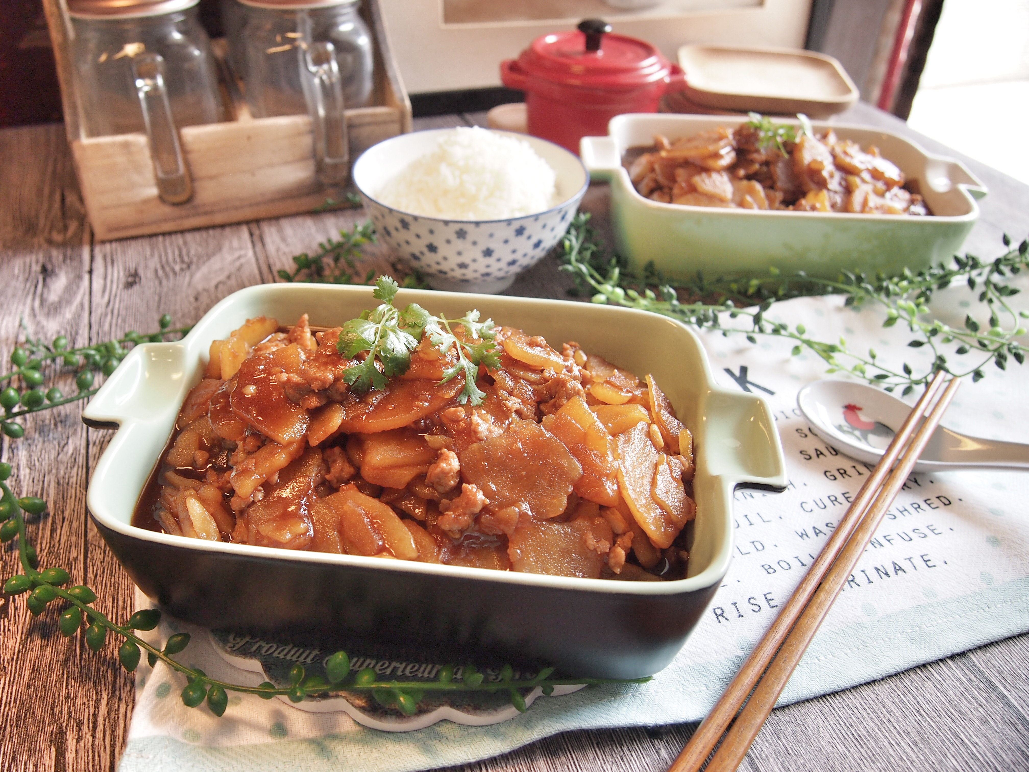 Easy Potatoes with Minced Pork