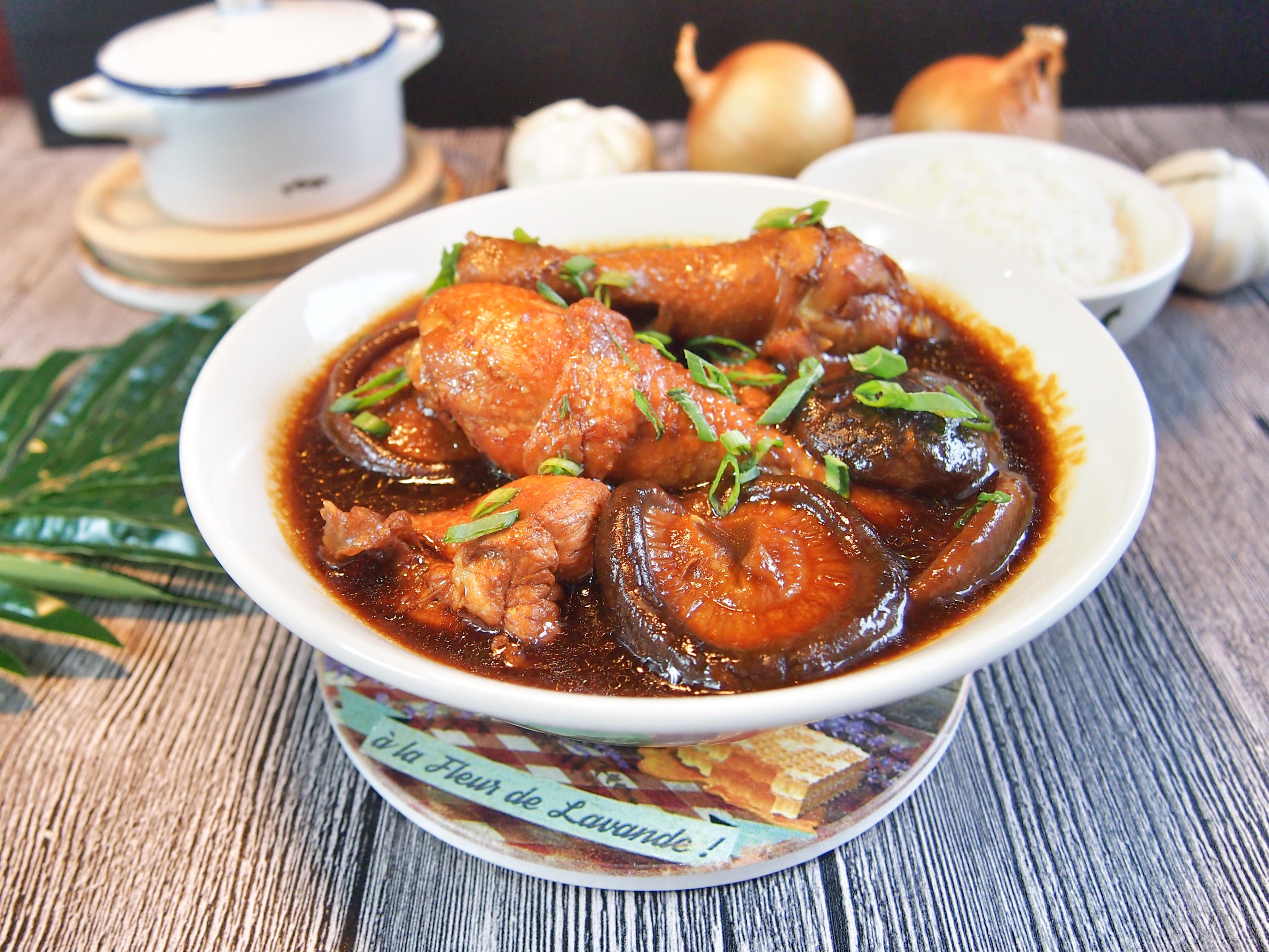 SUPER EASY Braised Chicken w/ Mushrooms 蘑菇红烧鸡