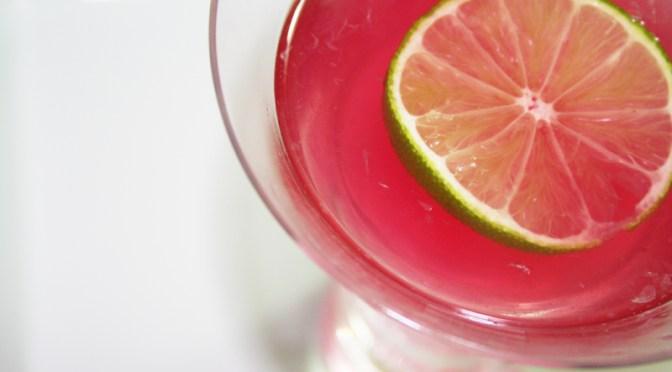 Ginger Hibiscus Martini