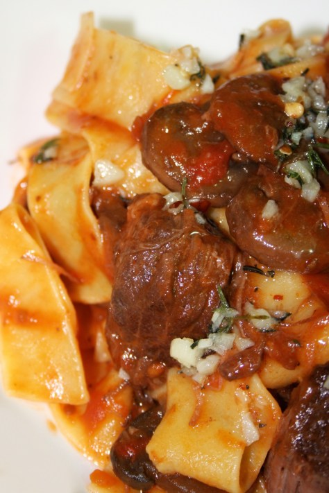 Braised Short Rib and Crimini Ragu with Pappardelle © Spice or Die