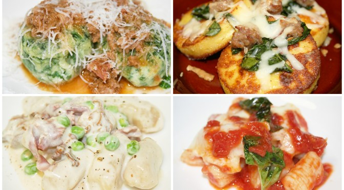 Gnocchi Feast Menu
