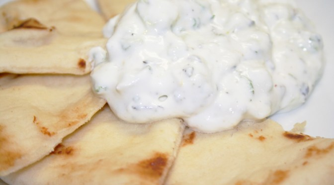 Lemony Tzatziki (Greek Yogurt with Cucumber and Mint)