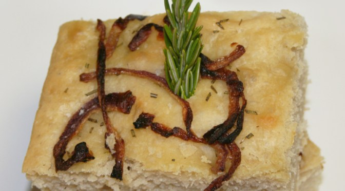 Herbed Focaccia with Caramelized Onions