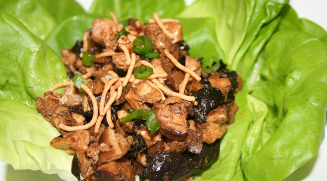 Black Tea Chicken Lettuce Wraps