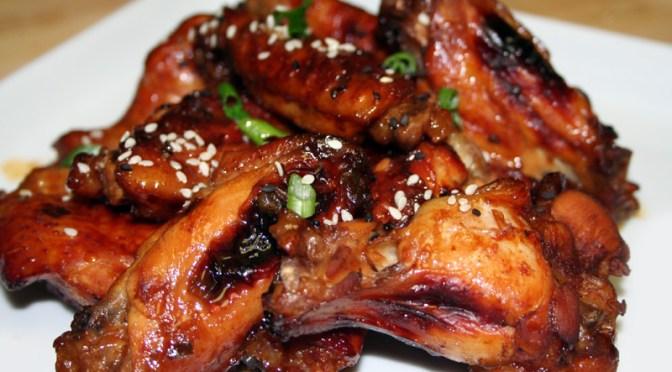Kona Coffee Glazed Chicken Wings