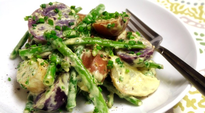 Potato Salad with Lemon Tarragon Aioli and Haricots Verts