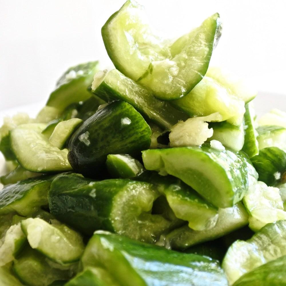 Sesame Garlic Cucumber