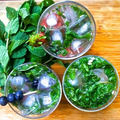 blueberry mojito, strawberry mojito and regular mojito