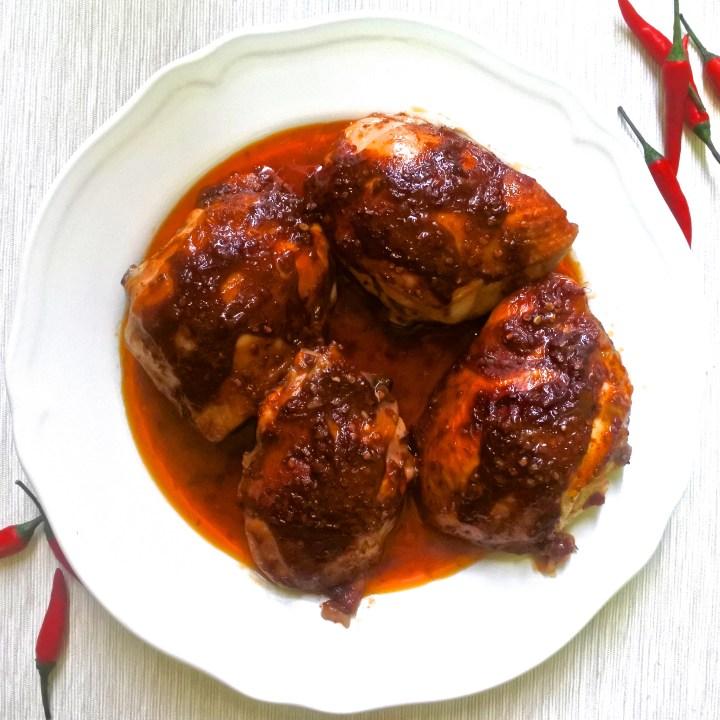 Piri Piri chicken thighs