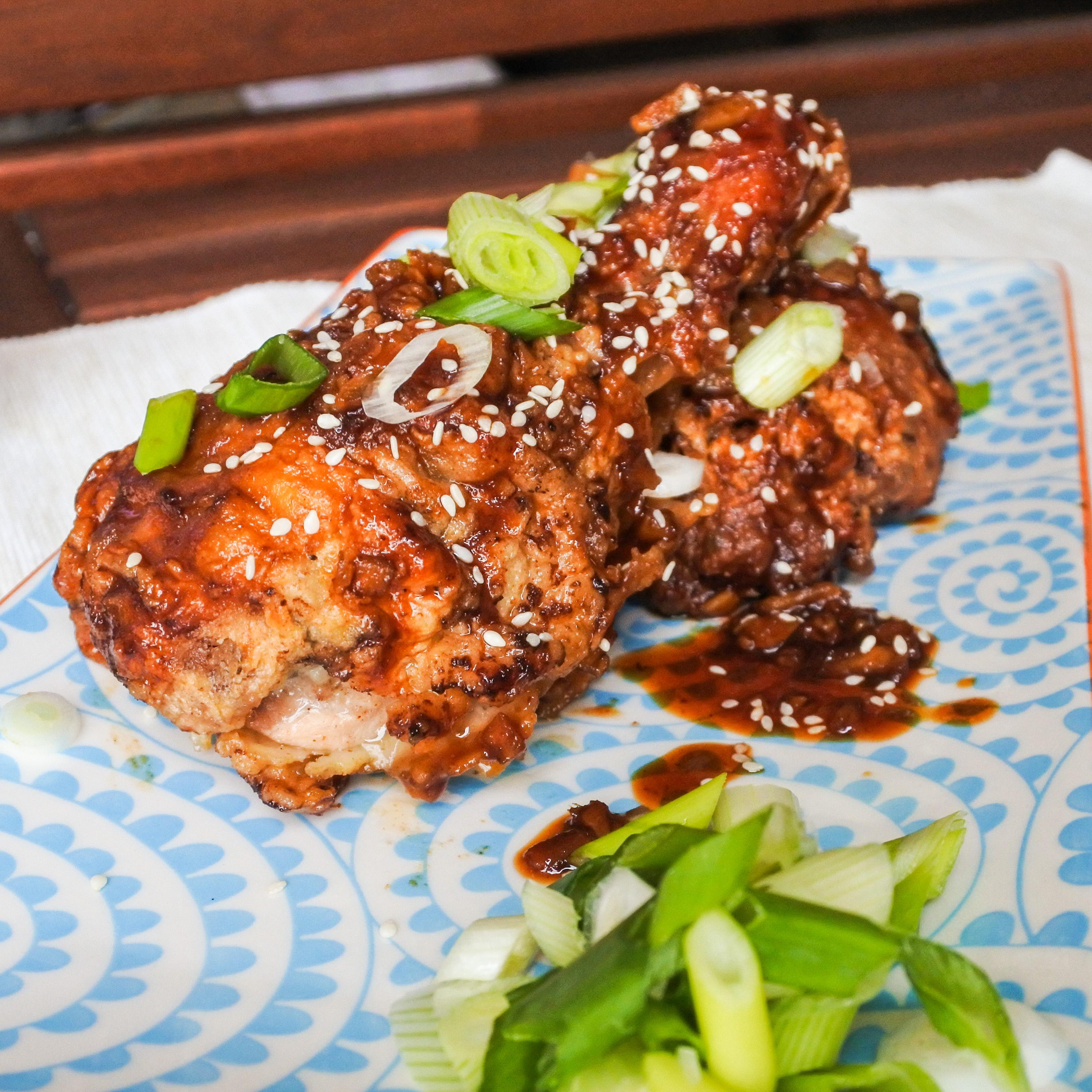 Garlic and ginger fried chicken 7