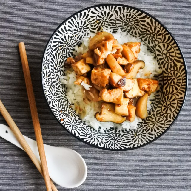 Tofu and Mushrooms in Soybean Sauce 10