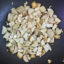 Add mushrooms and stir-fry on high heat for 2-3 minutes until everything is cooked and crisp.